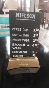 Restaurant Nielson, Rotterdam menu