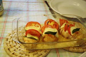 Italian chicken with mozzarella and tomato, Leuke Recepten