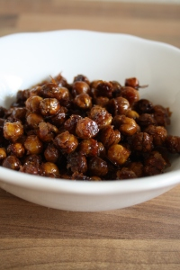 Roated chickpeas with honey and cinnamon