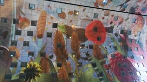 Markthal Rotterdam, ceiling, horn of plenty