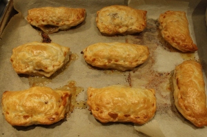 Parsnip and meat pastry